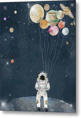 Solar Planets Paintings Metal Prints