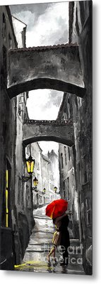 Old Prague Digital Art Metal Prints