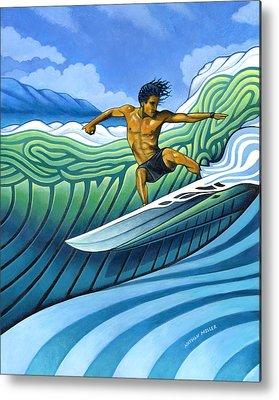 Surfers Metal Prints
