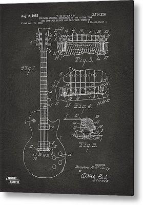 Guitar Drawings Metal Prints