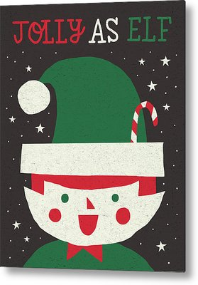 Christmas Elf Metal Prints