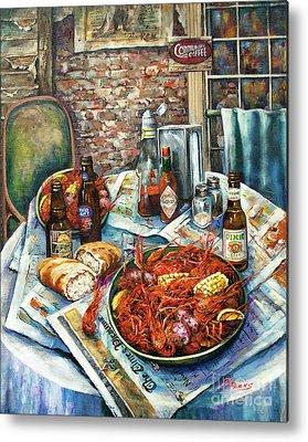 Louisiana Seafood Metal Prints