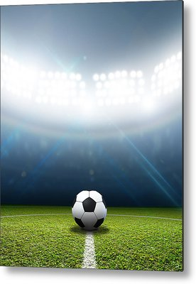Soccer Ball Metal Prints