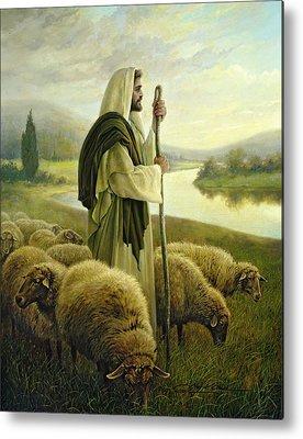 Sheep Paintings Metal Prints