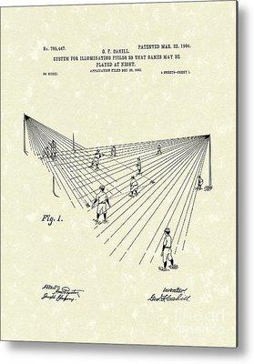 Baseball Fields Drawings Metal Prints