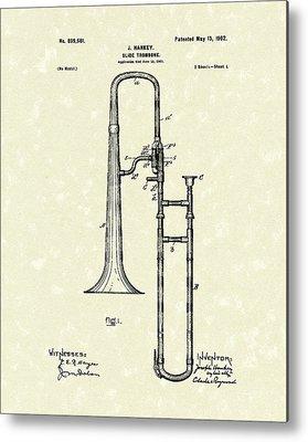 Trombone Metal Prints