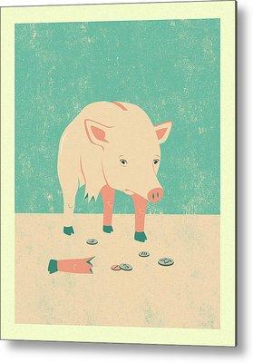 Piggy Bank Metal Prints