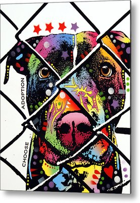 Pitbull Mixed Media Metal Prints