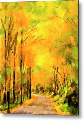 Smokey Mountain Drive Paintings Metal Prints