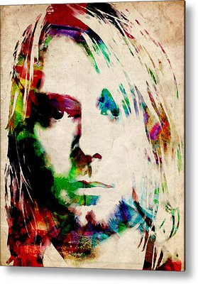 Kurt Cobain Metal Prints