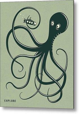 Pop Surrealism Metal Prints