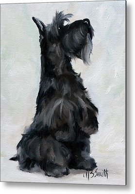 Scottish Dog Paintings Metal Prints