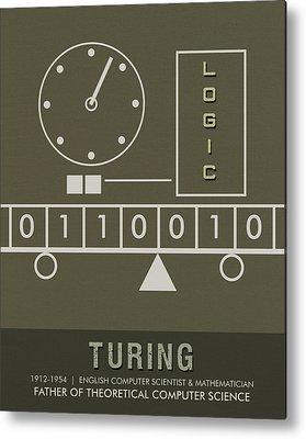 Alan Turing Metal Prints