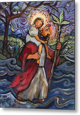 Saint Christopher Metal Prints