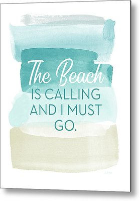 Coastal Quote Metal Prints