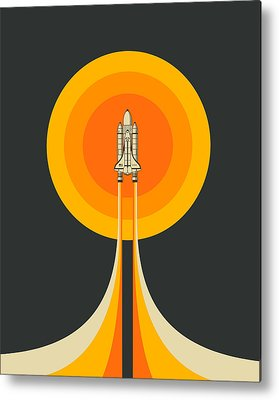 Space Ship Metal Prints