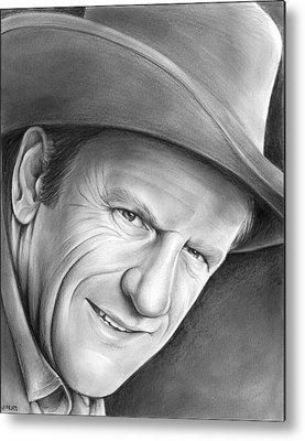 James Arness Metal Prints
