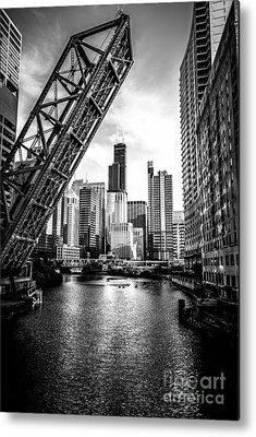 Chicago Black White Metal Prints