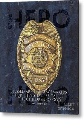Police Metal Prints