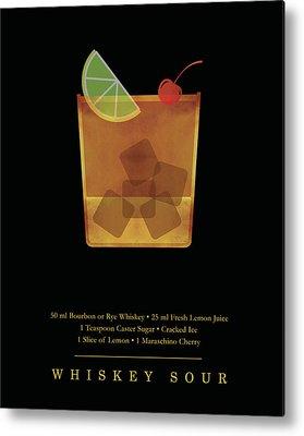 Whiskey Sour Metal Prints