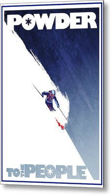 Skiing Metal Prints