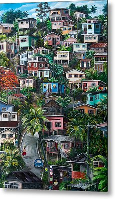 Caribbean House Metal Prints