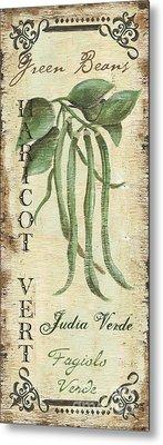 Green Beans Paintings Metal Prints