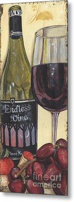 White Wine Metal Prints