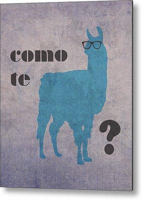 Llama Metal Prints