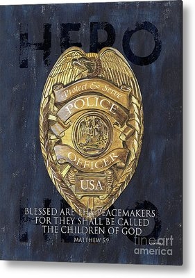 Police Paintings Metal Prints