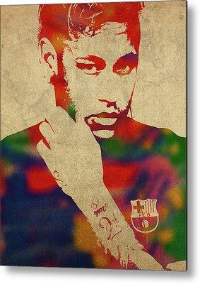 Neymar Metal Prints
