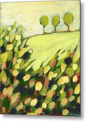 Abstract Landscape Paintings Metal Prints
