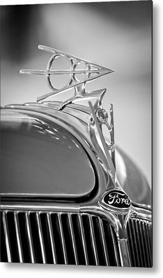 1936 Ford Deluxe Roadster Metal Prints
