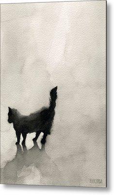 Cat Artwork Metal Prints