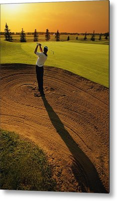 Golf Bag Photographs Metal Prints