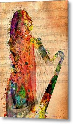 Harp Digital Art Metal Prints