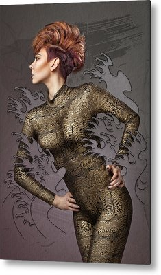 Female Body Digital Art Metal Prints
