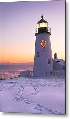 Winter In Maine Metal Prints