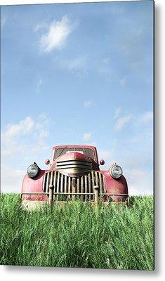 Farm Truck Metal Prints