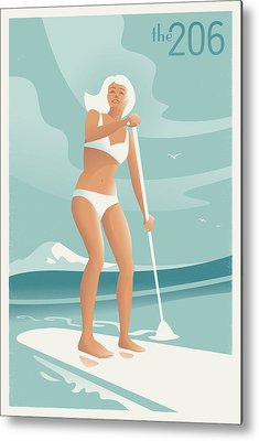 Paddler Metal Prints