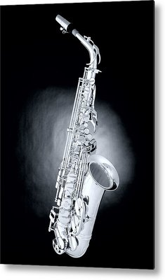 Saxophone Photographs Metal Prints