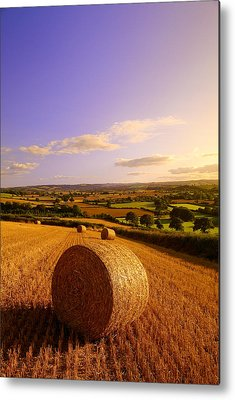 Haybales Metal Prints