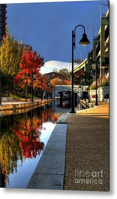 Canal Walk Metal Prints