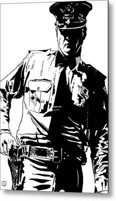 Law Enforcement Metal Prints