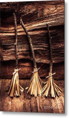 Broom Photographs Metal Prints