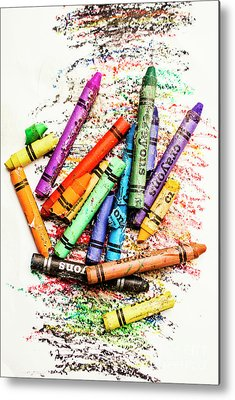 Crayons Metal Prints
