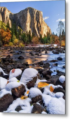Snow Capped Mountains Metal Prints