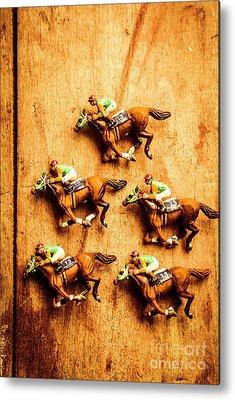 Racehorse Metal Prints