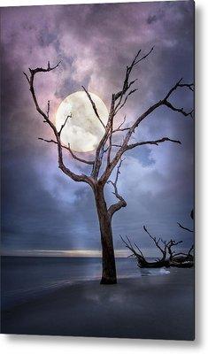 Moonshine On The Beach Metal Prints