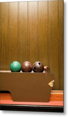 Ten Pin Bowling Metal Prints